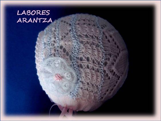 CAPOTAS DE BEBÉ/BABY BONNETS | LABORES ARANTZA. Para tu bebé, para ti, para tu hogar: Bonnets Labores, Baby, Labores Arantza, Baby, Arantza Para, Baby Bonnets