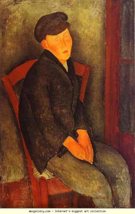 Amedeo Modigliani. Seated Boy with Cap.
