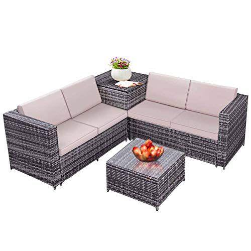tangkula 4pcs patio sofa set wicker