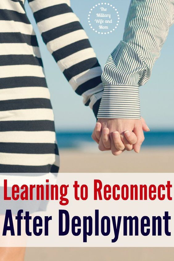 Great tips for reconnecting with your spouse after a military deployment. These all helped me so much!