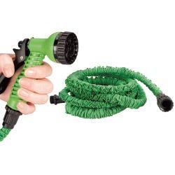 Set tuyau extensible et rétractable 7.5m + Pistolet CANADA GREEN