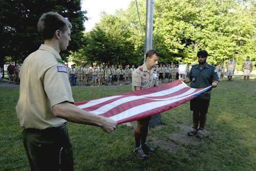 scout flag retirement ceremony
