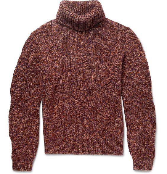 Berluti - Col roule : le pull mode homme de la saison automne hiver 2015