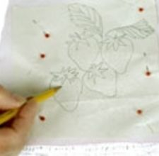 How to transfer an embroidery design