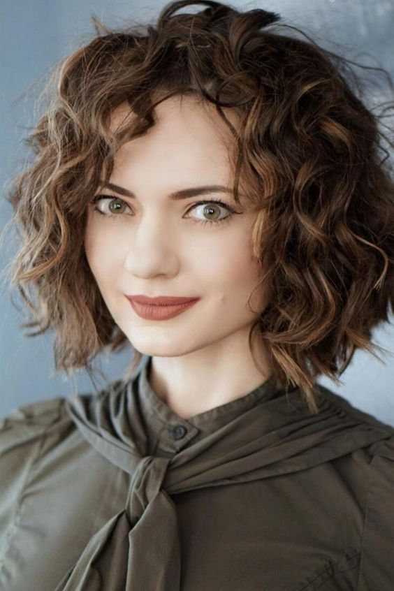 Short Curly Hairstyles 2018 50 In 2019 Curly Bob