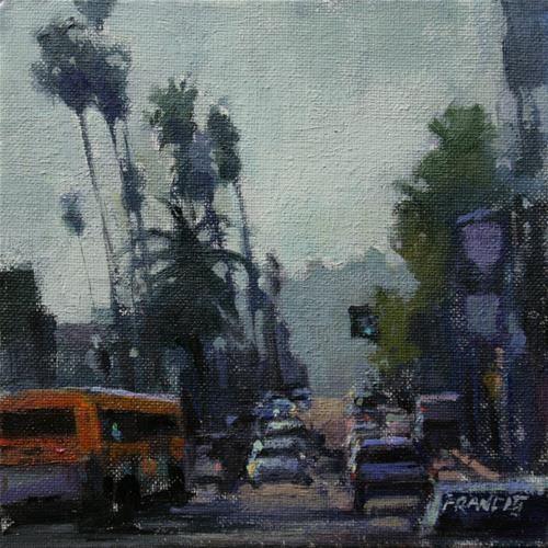 """Daily Paintworks - """"The Boulevard"""" - Original Fine Art for Sale - © Kit Francis"""
