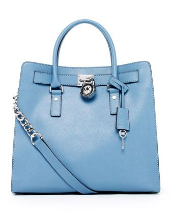 About to be MINE - Hooray!    Hamilton Large Tote Bag, Surf Blue by MICHAEL Michael Kors at Neiman Marcus.