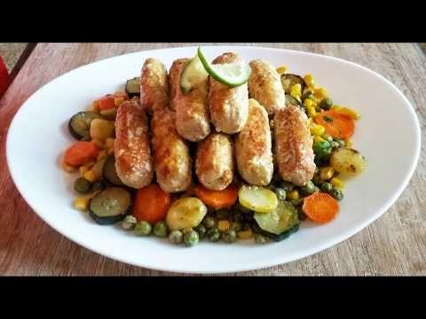 اصابع الدجاج المحشوة بالجبن مع الخضر ذوق راءع Youtube Food Sausage Meat