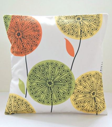 citrus dandelion pillow