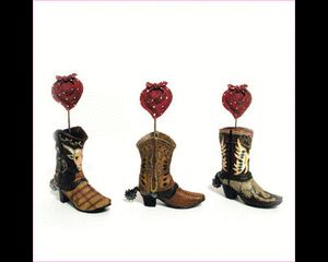 Card holder wedding, Place card holders and Cowboy boots on Pinterest