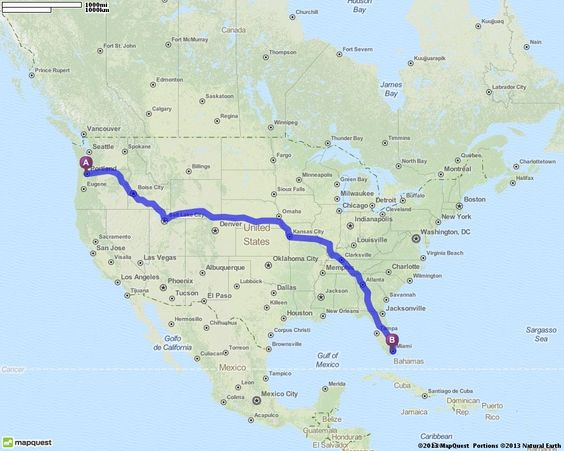 Driving Directions from Portland Oregon to Miami Florida – Mapquest Driving Directions