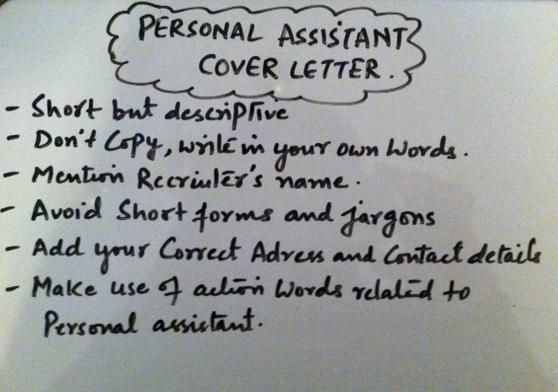 Writing A Personal Assistant Cover Letter Learn career usa - personal assistant cover letter
