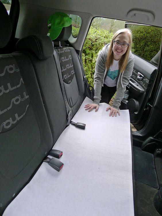 Today We Re Making An Easy Upholstery Cover To Save The Back Seat