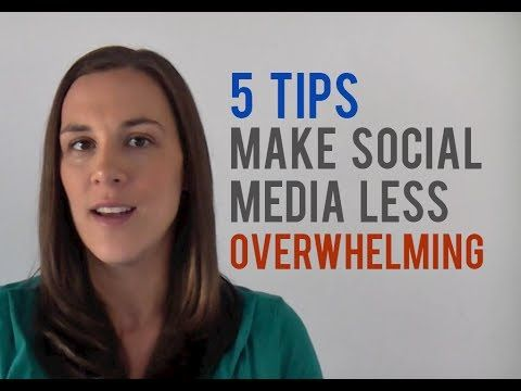 5 Tips to Make Social Media Marketing Less Overwhelming - http://www.highpa20s.com/social-media-marketing/5-tips-to-make-social-media-marketing-less-overwhelming/
