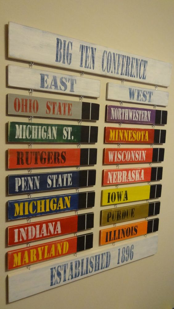 Ohio State Man Cave Furniture : Big ten conference standings board made to order