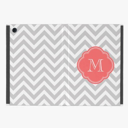 Awesome! This Gray Chevron Custom Monogram iPad Mini Case is completely customizable and ready to be personalized or purchased as is. It's a perfect gift for you or your friends.