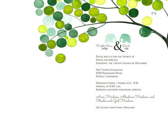 Aufruf Invitation Card Design Printable Custom Wedding Jewish – Invitation Cards Designs