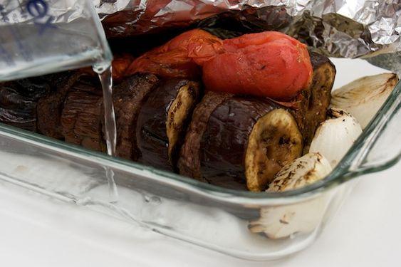 kabab banjan (eggplant + meat)