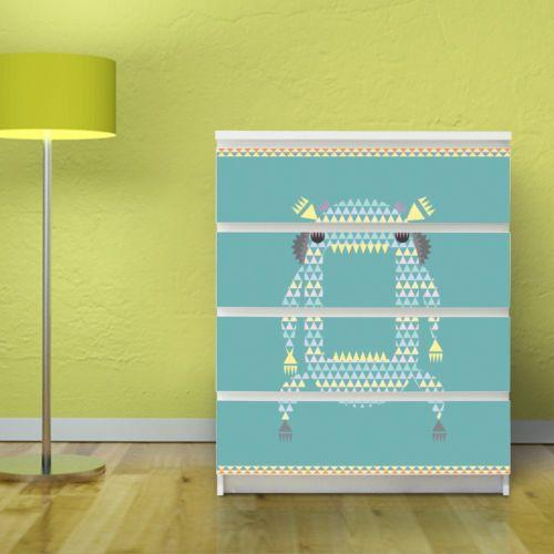 Malm-Moebelaufkleber-IKEA-80x100-Moebeltattoo-Moebelsticker-Kommode-Illustration
