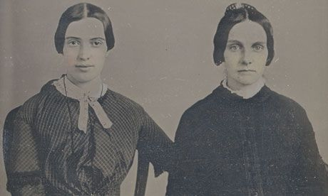 Emily Dickinson, left (One of only two known photographs)