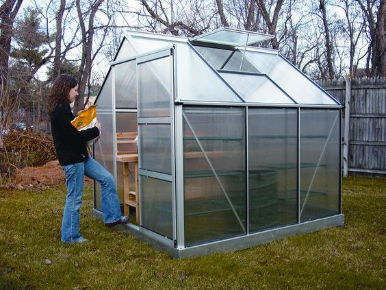 greenhouses | 10'W x 20'L x 8'H Peak Style Greenhouse Product Details