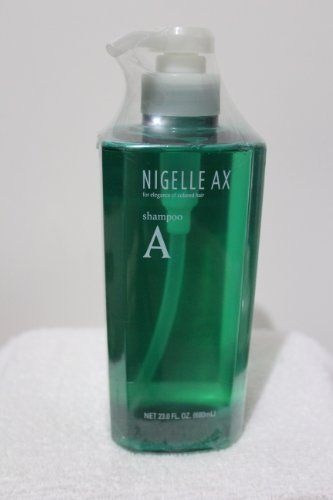 Nigelle AX shampoo A with pump - 23.0 fl oz by Milbon. $61.99. for normal hair or coarse hair. Damage caused by chemical treatments is distinct and different depending on the hair type. So the correct combination of NIGELLE AX shampoo and treatment is doubly effective, leaving hair healthy and beautiful from the roots to the very ends.