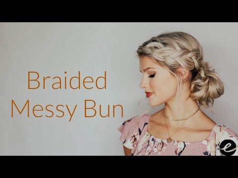 Braided Side Bun Updo Youtube In 2020 Side Braid With Bun Side Bun Updo Side Bun Hairstyles