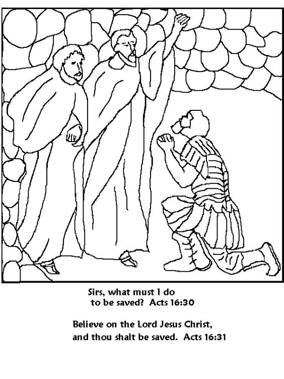 Paul and Silas Coloring Page  Armor of God  Pinterest  Coloring