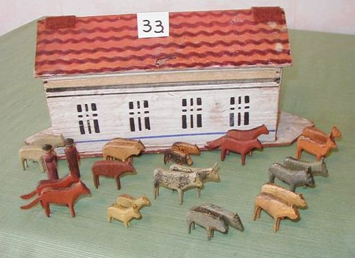 This is great.....  can't afford it - but I do love it!  (Early painted Noah's Ark)