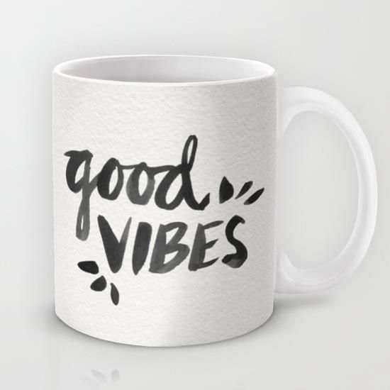 Good Vibes by Cat Coquillette word art print poster black white motivational quote inspirational words of wisdom motivationmonday Scandinavian fashionista fitness inspiration motivation typography home decor