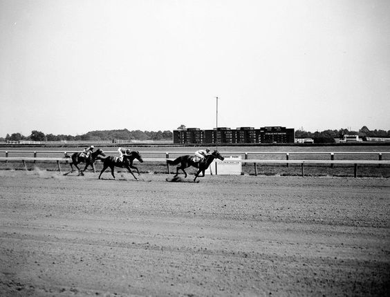 Horse race at Delaware Park - 1942. See the entire collection at http://www.facebook.com/DelawarePublicArchives