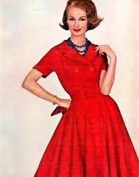 Resultado de imagen para vestidos decada del 50