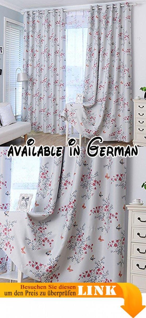 Met Love Schmetterling Printing Boden Vorhänge Schlafzimmer - vorhänge für schlafzimmer