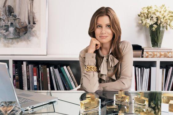 Aerin Lauder at her desk