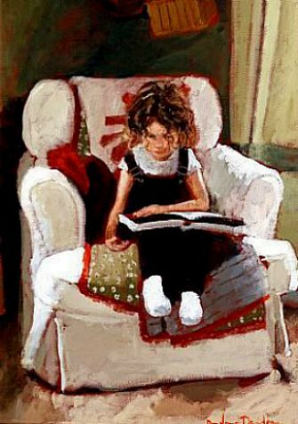 "Rowland Davidson, ""Girl on White Chair"""