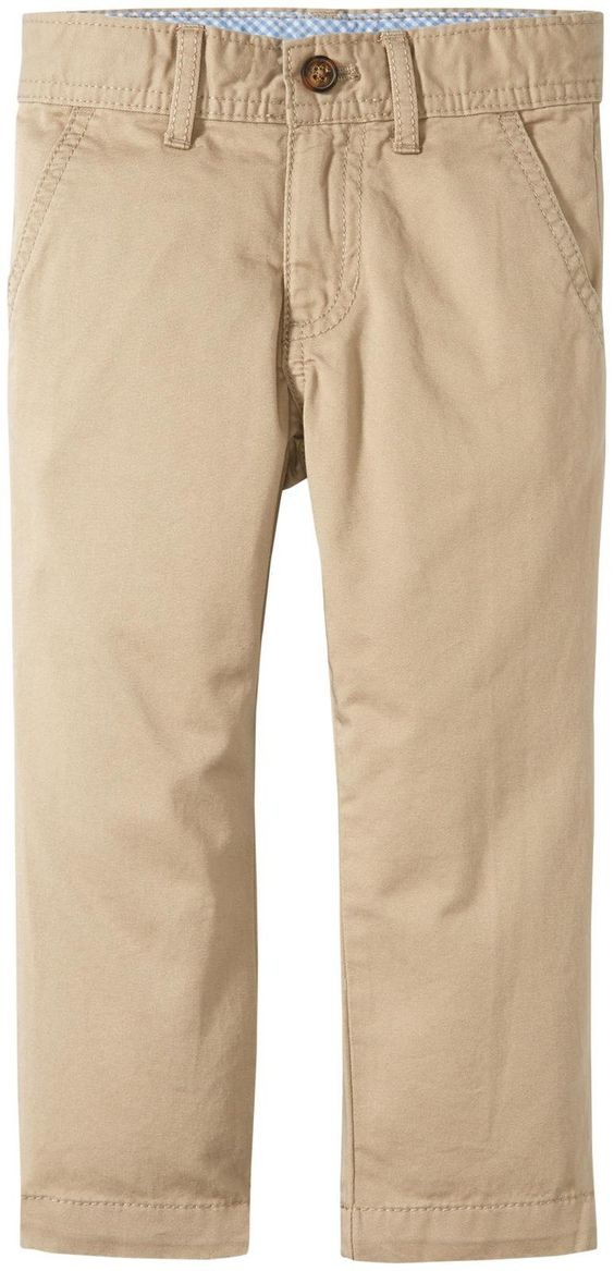 Carter's Easter Chinos, Khaki, 6. 100 percent cotton. Imported.