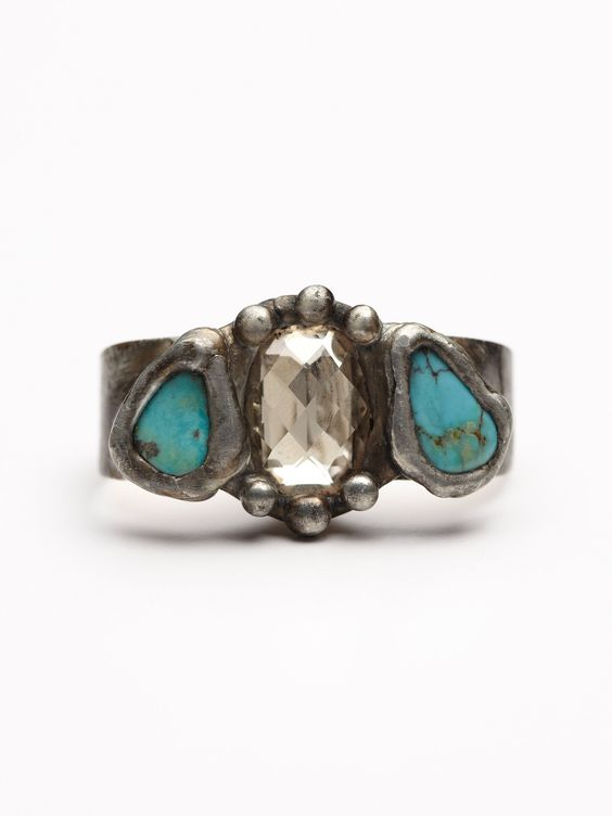 at Free People Mikal Winn Three Stone Double Ring