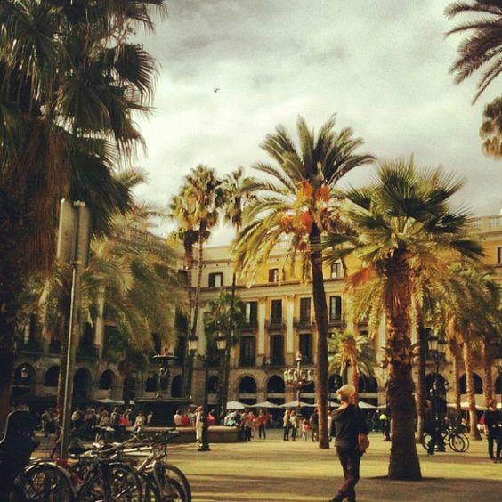 Plaça Reial, Barcelona, Spain <3
