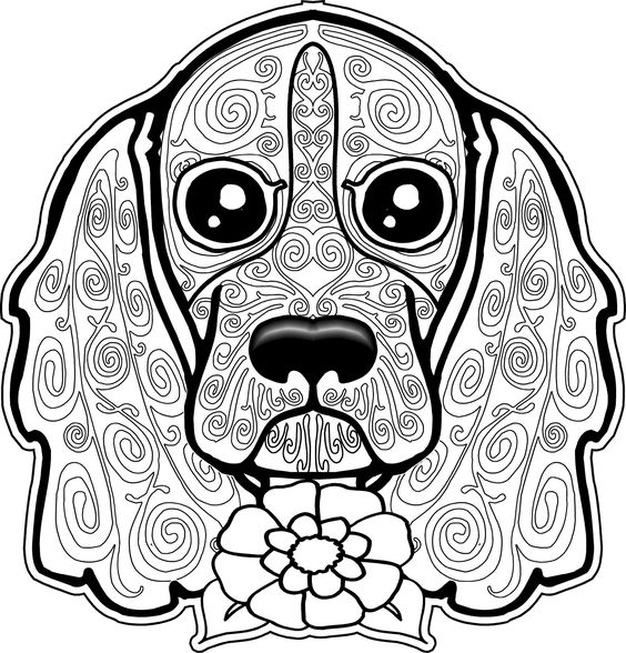 Sugar Skull Coloring Pages Animals as well Free Dog Coloring Pages For ...