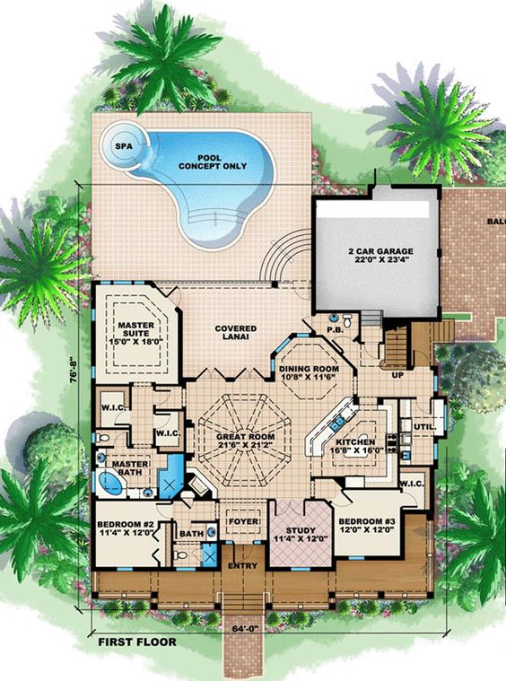 House Plans Crackers And Florida On Pinterest
