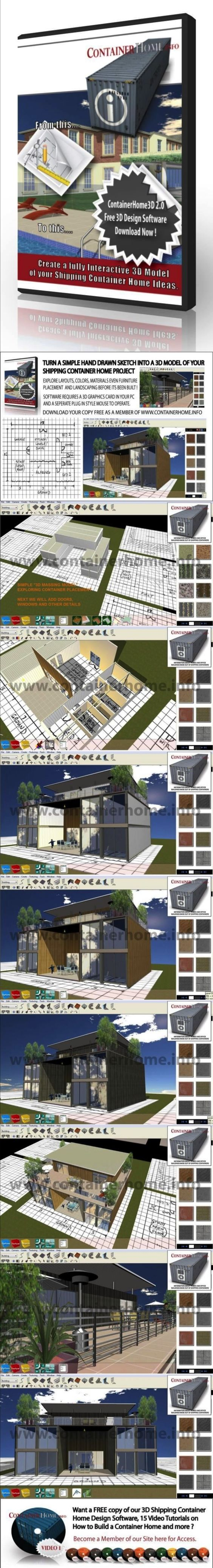 3d shipping container home design software provided free for Container design software