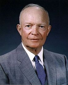 Dwight Eisenhower, 1959. Président des Etats-Unis (1890-1969)