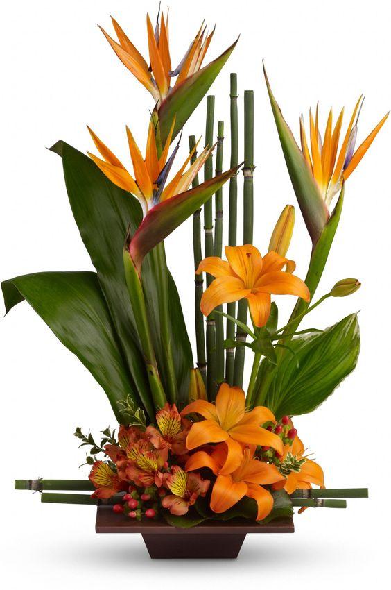 En color naranja arreglos florales pinterest ave del - Como hacer color naranja ...