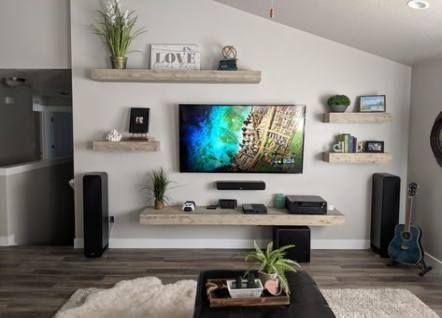 Shelving Wall Art Ideas Living Room Entertainment Center Floating Shelves Living Room Living Room Entertainment