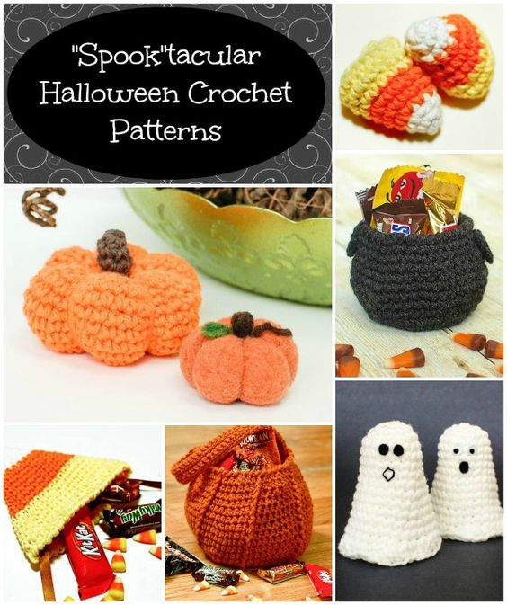 Free Easy Halloween Crochet Patterns : Halloween Pumpkin Trick or Treat Bag Crochet Pattern The ...