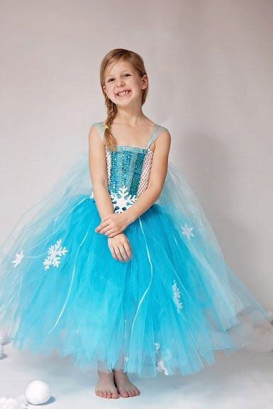 Queen Elsa Inspired Winter Snowflake Sequin Tutu Dress: