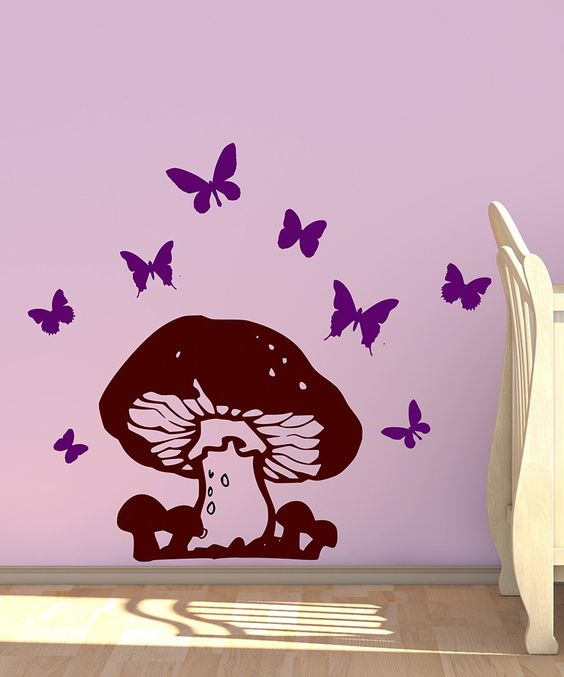 Forest Fun: Kids' Décor - DecorDesigns Brown & Orchid Mushroom Wall Decal Set | zulily