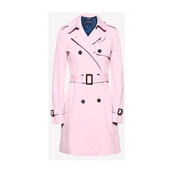 DUNCOMBE TRENCH COAT (2.903.490 IDR) ❤ liked on Polyvore featuring outerwear, coats, jack wills, pink trench coat, jack wills coat, pink coat and trench coat