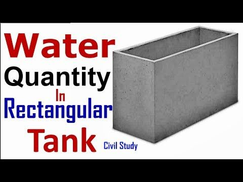How To Calculate Water Quantity In Tank Water Tank Calculation Formula Grade Of Concrete Water Tank Rectangular