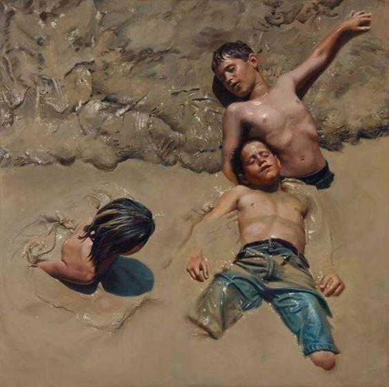 """É uma pintura a óleo feita pela talentosa Teresa Elliot.  A pintura é chamada de """"libertação""""."""